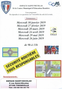 CCAS SECURITE ROUTIERE