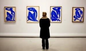 """La serie des """"Nu bleu"""" de Matisse. Exposition Matisse, Beaubourg, le 2 mars 2012. Lucien Lung pour Le Figaro"""