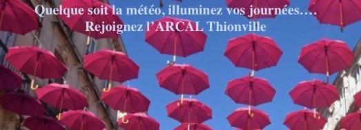 BANDEAU n° 4  l' ARCAL slogan avec les parapluies