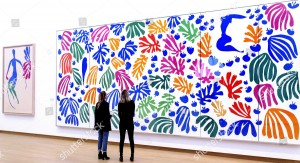 Mandatory Credit: Photo by Sander Koning/EPA/Shutterstock (8328752b) Visitors Look at 'La Perruche Et La Sirene' of French Artist Henry Matisse at the Preview of the Exhibition 'De Oase Van Matisse' in the Stedelijk Museum Amsterdam the Netherlands 25 March 2015 the Exhibit Runs From 27 March to 16 August Netherlands Amsterdam Netherlands Arts Matisse - Mar 2015